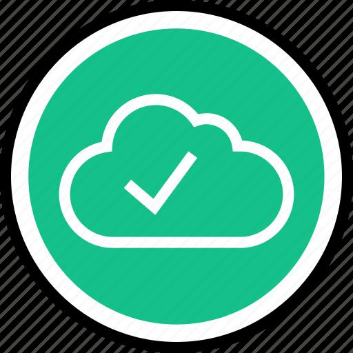check, cloud, mark icon