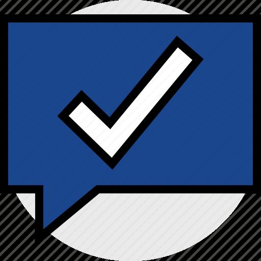 check, mark, notification icon