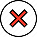cross, delete, stop icon