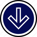 down, menu, nav, navigation icon