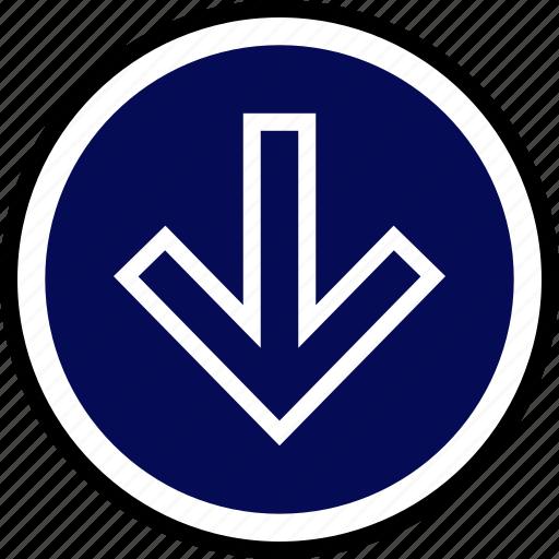 Down, menu, nav, navigation icon - Download on Iconfinder