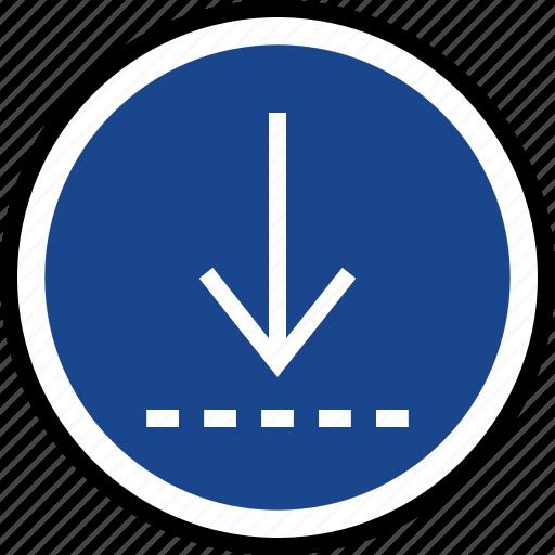 down, download, navigation icon