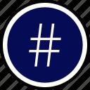 hashtag, pound, twitter icon