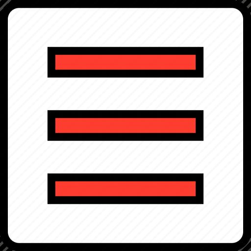 hamburger, menu, options icon