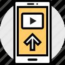 arrow, mobile, up