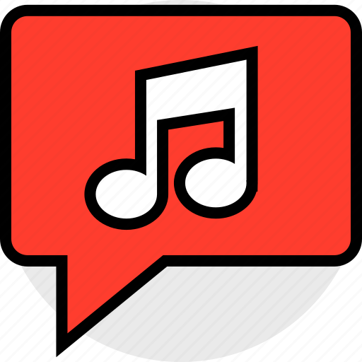 chat, music, note icon