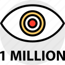 million, one, views icon