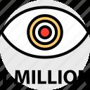 one, views, million