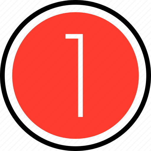 nav, navigation, number, one icon