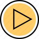 music, play, video icon