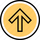 arrow, navigation, point, up icon