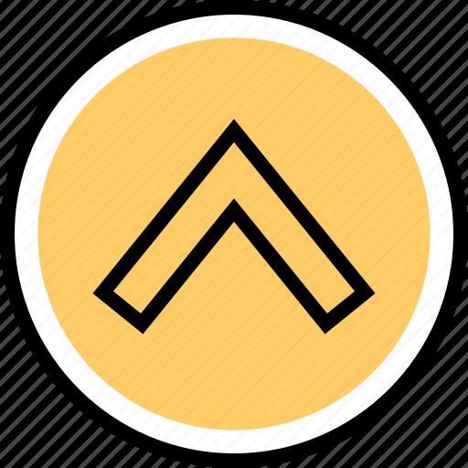 nav, navigation, point, up icon
