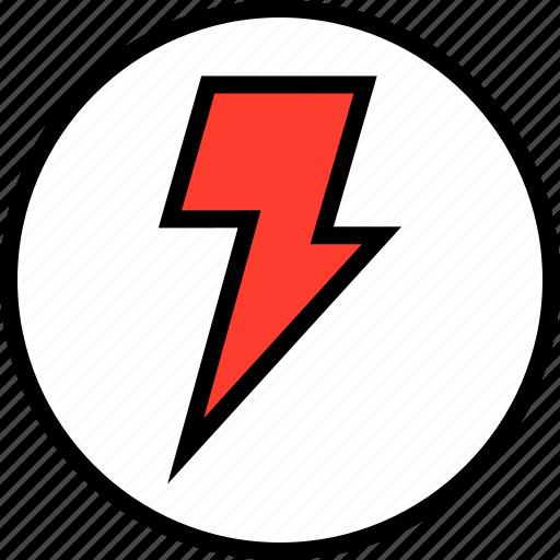 everyday, lightning, power icon