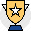 award, awarded, star, trophy