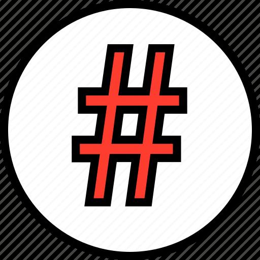 hashtag, pound, tag, tweet icon