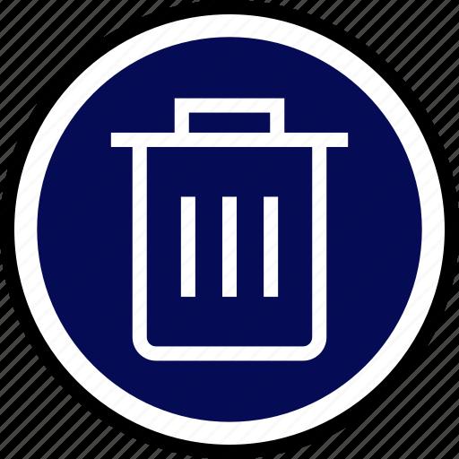 bin, can, delete, trash icon