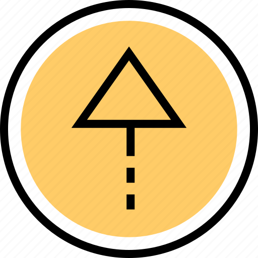 navigation, point, up icon