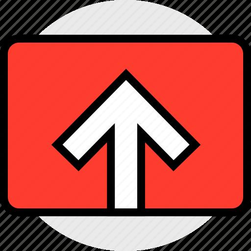 send, upload, video icon