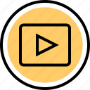 playback, video, youtube icon