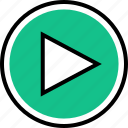 play, vidoe, youtube icon