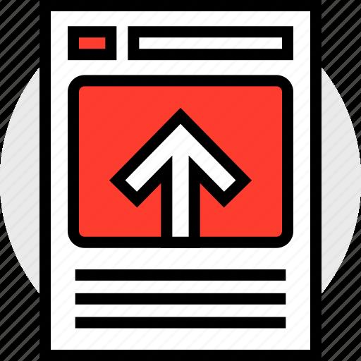 arrow, high, youtube icon