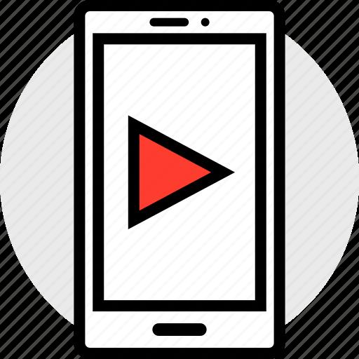 media, mobile, youtube icon