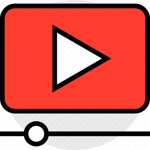 play, video, youtuve icon