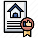 award, real, estate, home, document
