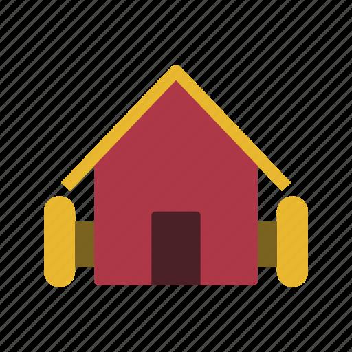 barn, farm, house, stable icon