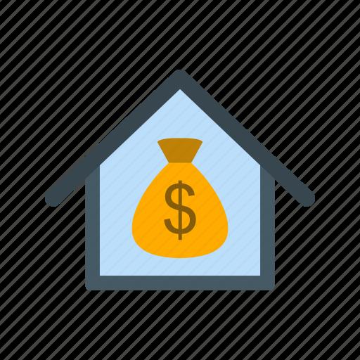 finance, home, house, loan, mortgage, mortgage loan, real estate icon