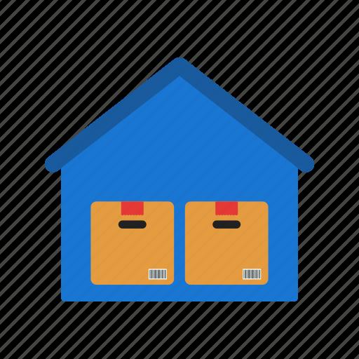 storage, storage boxes, storage building, storage unit, warehouse, warehouse interior, warehouse shelves icon