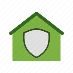 house insurance, house protection, house shield, safe house icon