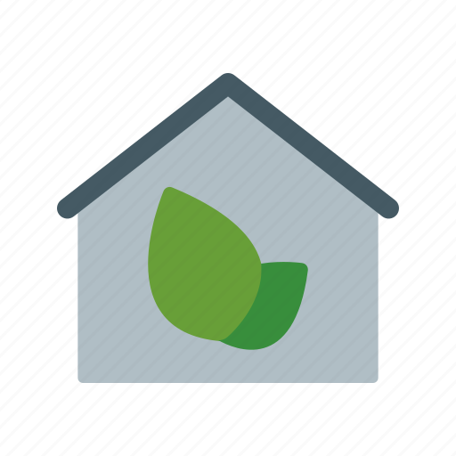 eco, green house, house icon
