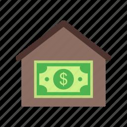 home, house, money house, price, value icon