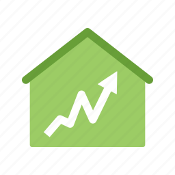 graph, home, house, statistics icon
