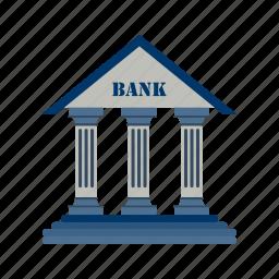 bank, bank building, banker, business, finance, money, piggy bank icon