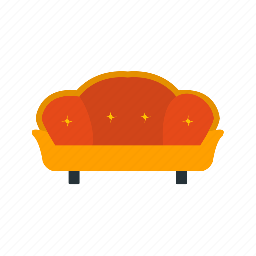 couch, living room, sofa icon