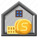 bank, finance, financial, house icon
