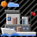 boat, house boat