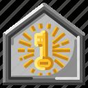 house, key, lock, security