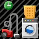 pantry room, vacuum cleaner, washer-dryer, washing machine