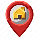 location, marker, pin, home