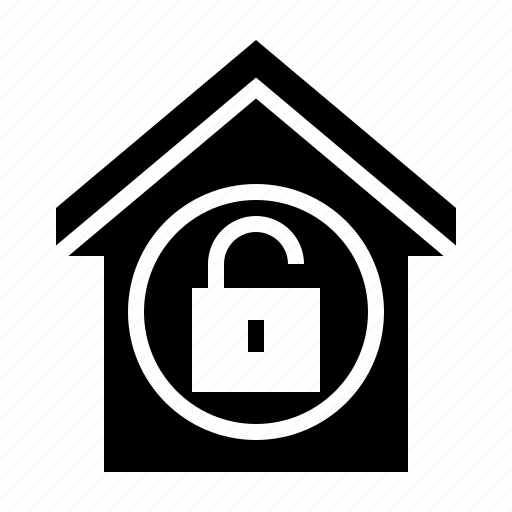 estate, home, property, secure, unlock icon