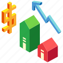 appraisal, evaluation, house, investment, property, real estate, valuation icon
