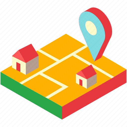 home, house, location, map, position, property, real estate icon