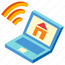 database, home, loan, network, online, property, real estate icon