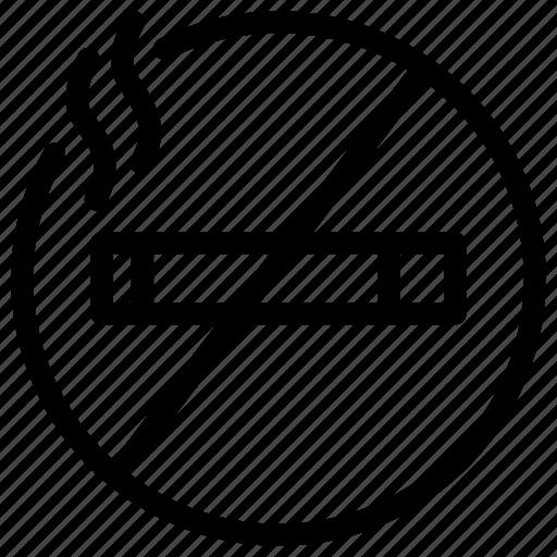 area, cigarette, location, non, smoking icon