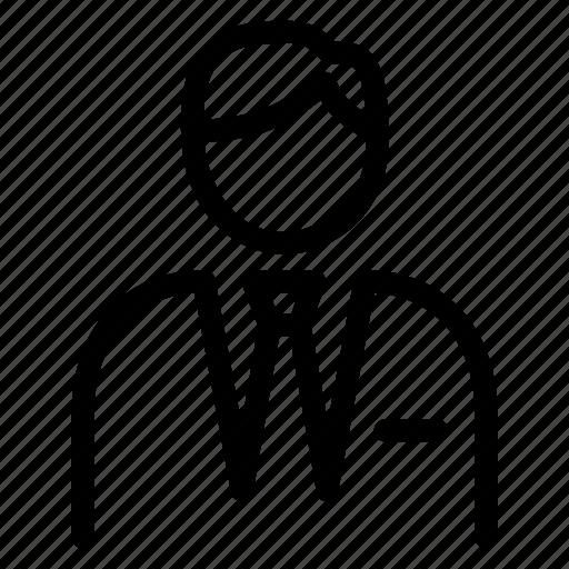avatar, man, manager, person, profile, supervisor icon