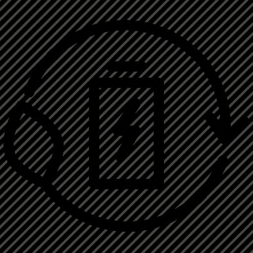 battery, ecoenergy, electric, electricity, energy, power, smart icon