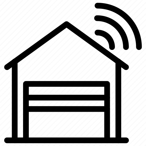 architecture, building, construction, estate, garage, home, smart icon